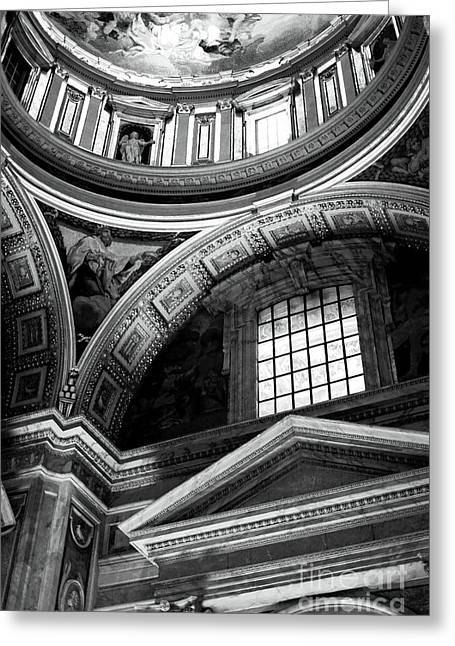 Peter Art Prints Posters Gallery Greeting Cards - St. Peters Arcs and Angles Greeting Card by John Rizzuto