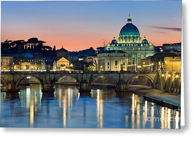 Rome Greeting Cards - St Peters - Rome Greeting Card by Rod McLean