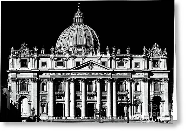 Peter Art Prints Posters Gallery Greeting Cards - St. Peters Basilica Greeting Card by John Rizzuto