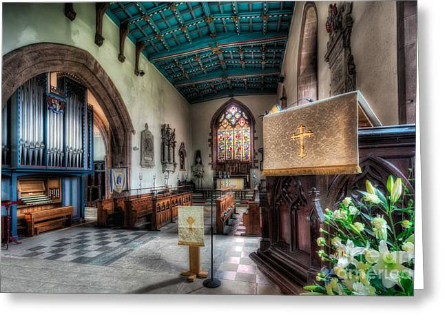 Religious Digital Art Greeting Cards - St Peters Church Greeting Card by Adrian Evans