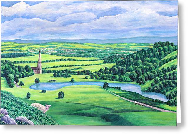 Sheep Greeting Cards - St Peters Church and the Blue Lagoon - Belmont  Greeting Card by Ronald Haber