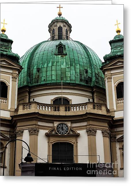 Peter Art Prints Posters Gallery Greeting Cards - St. Peters Church Vienna Greeting Card by John Rizzuto
