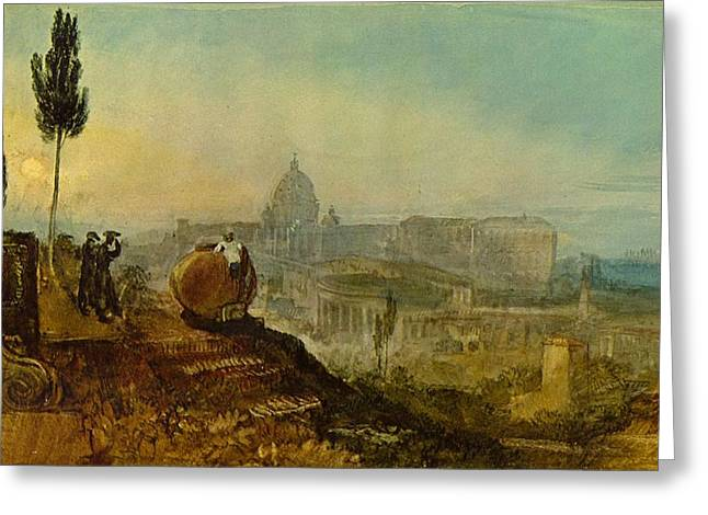 Jmw Greeting Cards - St Peters from the south 1819 Greeting Card by Joseph Mallord William Turner