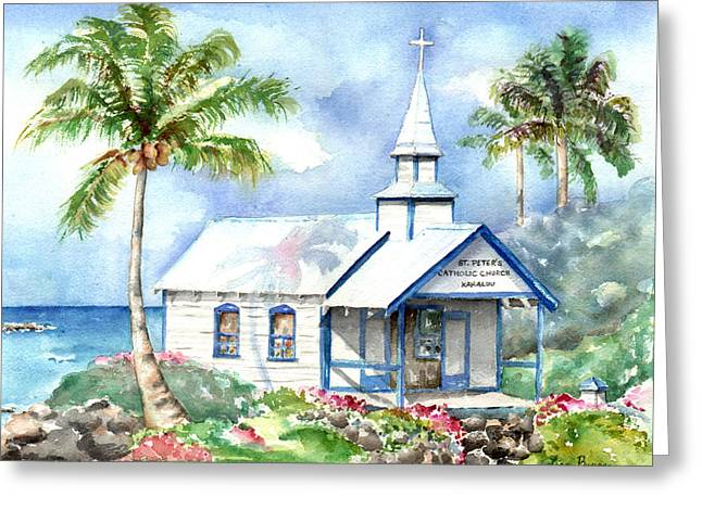 Sea Scape Greeting Cards - St. Peters Greeting Card by Lisa Bunge