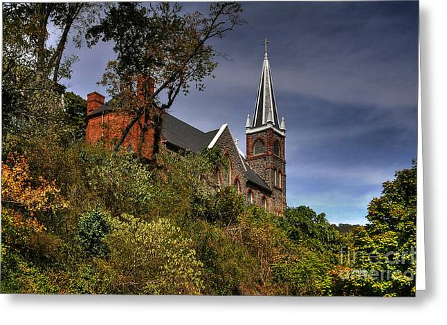 St. Peter's of Harpers Ferry Greeting Card by Lois Bryan