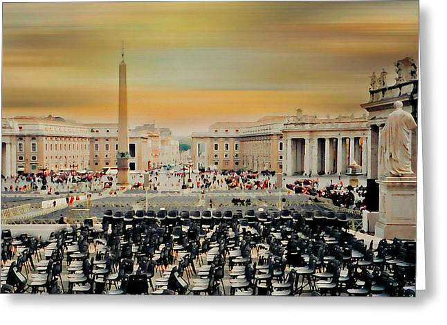 The Vatican Greeting Cards - St. Peters Square Rome Greeting Card by Diana Angstadt
