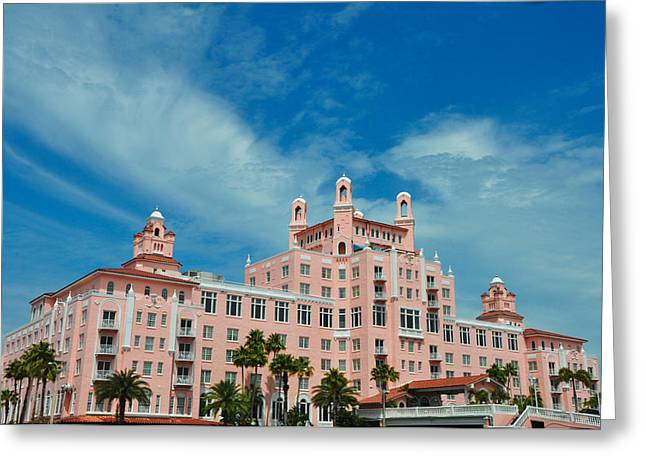 St. Petersburg Florida Greeting Cards - St Petersburg - Don Ceasar Hotel Greeting Card by Bill Cannon