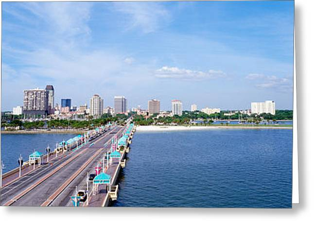 St. Petersburg Florida Greeting Cards - St Petersburg Fl Greeting Card by Panoramic Images