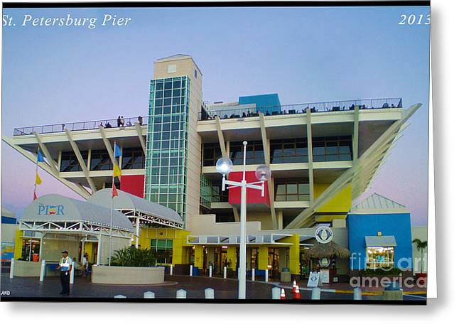 St Petersburg Florida Greeting Cards - St. Petersburg Pier Greeting Card by Kevin Nodland