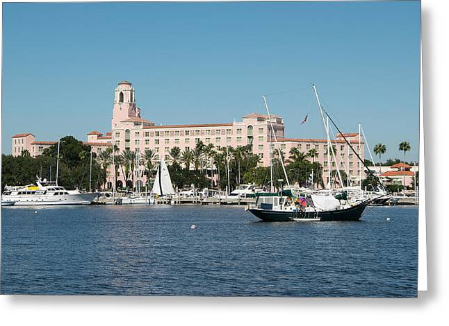 St Petersburg Florida Greeting Cards - St. Petes Vinoy Hotel Greeting Card by Robert VanDerWal