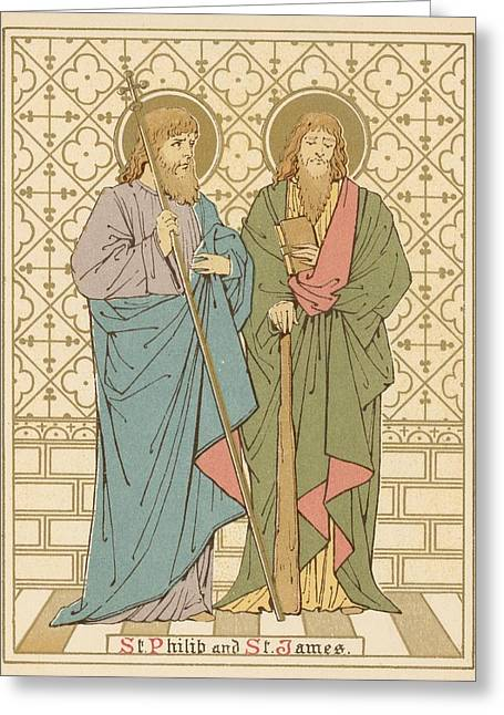 Red Letter Days Greeting Cards - St Philip and St James Greeting Card by English School