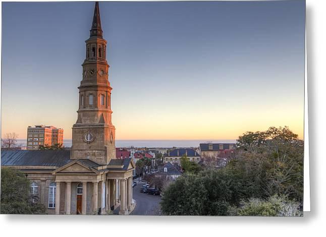 Charleston Greeting Cards - St Phillips Church Charleston SC Greeting Card by Dustin K Ryan