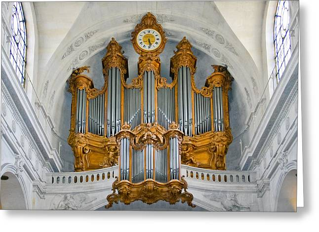 Music Greeting Cards - St Roch organ in Paris Greeting Card by Jenny Setchell
