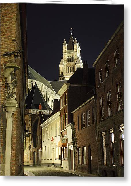 Bruges Greeting Cards - St Saviour Cathedral  Greeting Card by Adam Romanowicz