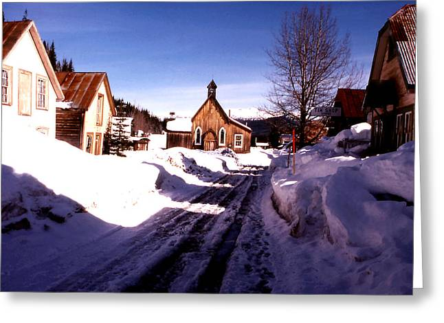 Barkerville Greeting Cards - St. Saviours Church - Barkerville Greeting Card by Robert  Rodvik