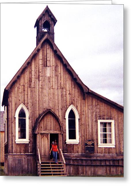 Barkerville Greeting Cards - St. Saviours Church Greeting Card by Robert  Rodvik