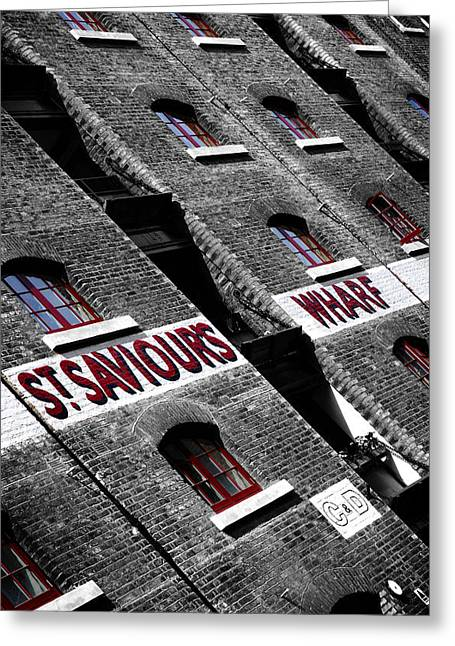 Wharf Greeting Cards - St Saviours Wharf Greeting Card by Mark Rogan