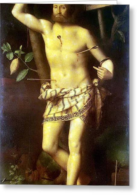 Child Jesus Greeting Cards - St Sebastian Greeting Card by Celestial Images