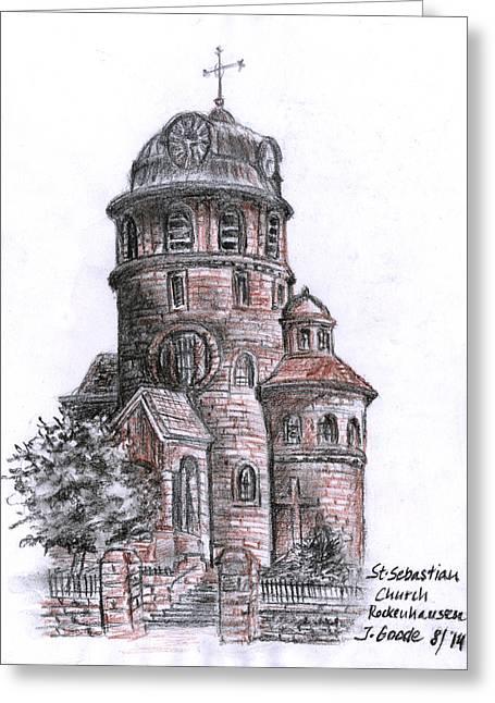 St Sebastian Greeting Cards - St. Sebastian Church Greeting Card by Jana Goode