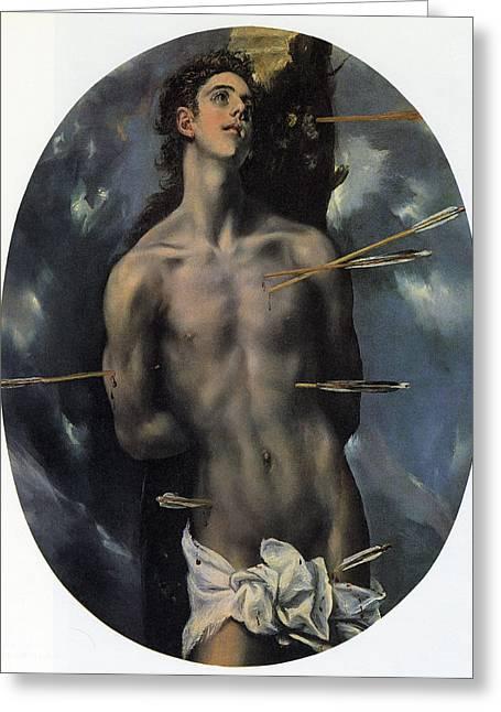 Popular Beliefs Greeting Cards - St Sebastian Greeting Card by El Greco