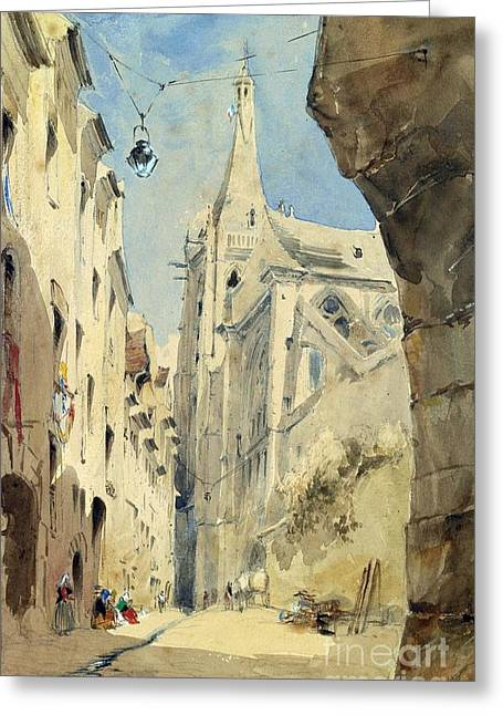 Vernacular Architecture Greeting Cards - St. Severin Paris Greeting Card by James Holland