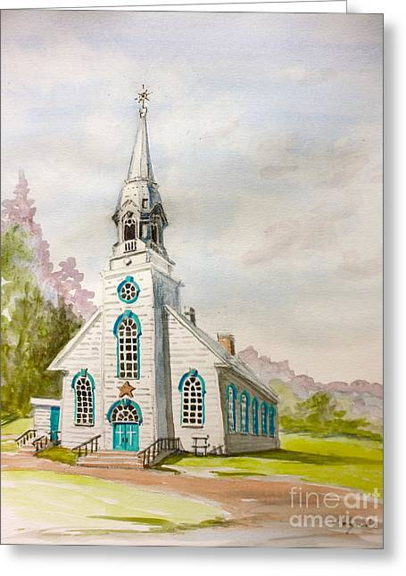 St Simeon Church Quebec Canada Greeting Card by Yvonne Ayoub