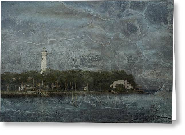 St. Simons Island Lighthouse Greeting Card by A R Williams