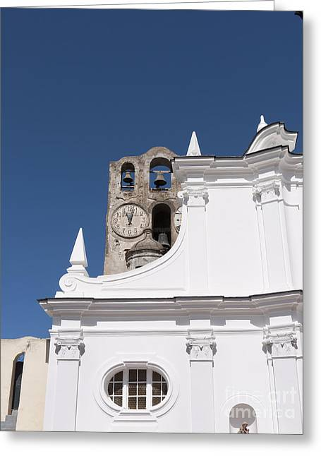 Pavarotti Greeting Cards - St Sofia Church in Anacapri Greeting Card by Brenda Kean