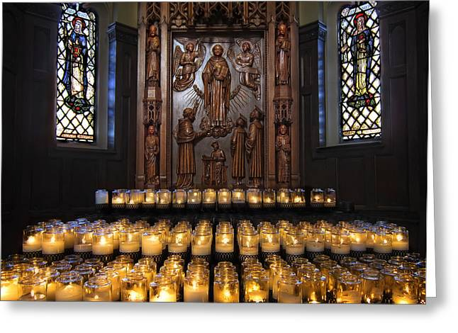 Saint Dominic Greeting Cards - St. Thomas Aquinas Altar in St. Dominics Cathedral - San Francisco Greeting Card by Daniel Hagerman