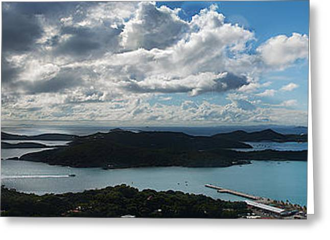 Boat Cruise Greeting Cards - St. Thomas Bay Greeting Card by Camille Lopez