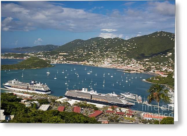 Charlotte Amalie Photographs Greeting Cards - St Thomas Harbor Greeting Card by Brian Jannsen