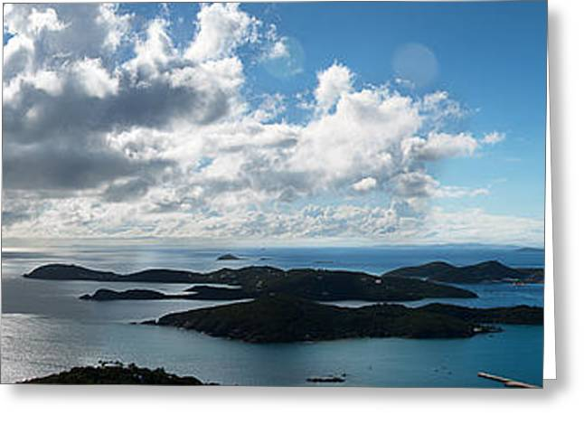 Boat Cruise Greeting Cards - St. Thomas Harbor Greeting Card by Camille Lopez