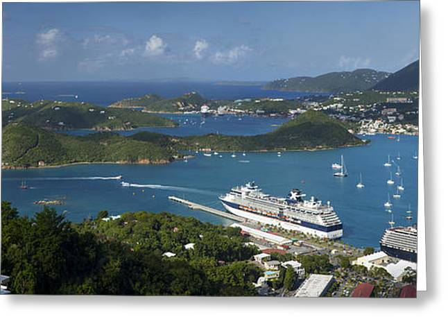 Charlotte Amalie Photographs Greeting Cards - St Thomas Pano II Greeting Card by Brian Jannsen