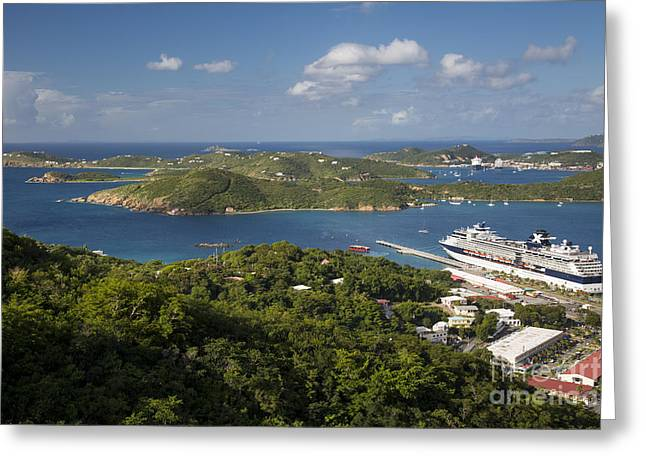 Charlotte Amalie Photographs Greeting Cards - St Thomas View Greeting Card by Brian Jannsen