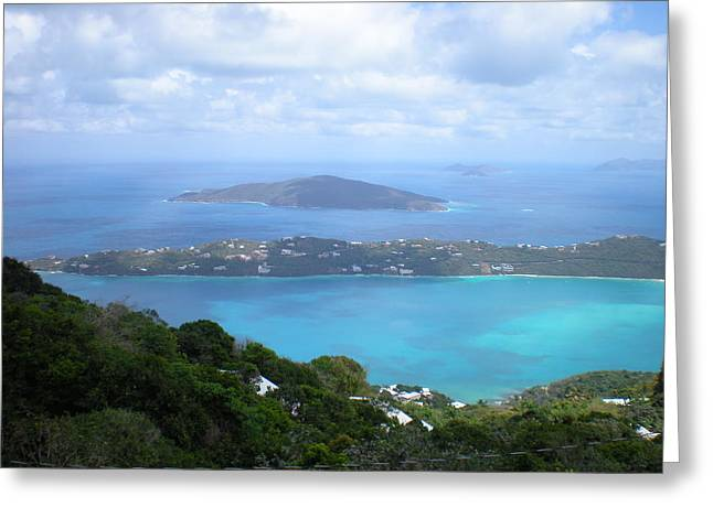 Ocean Panorama Greeting Cards - St-Thomas Virgin Islands USA Greeting Card by Danielle  Parent