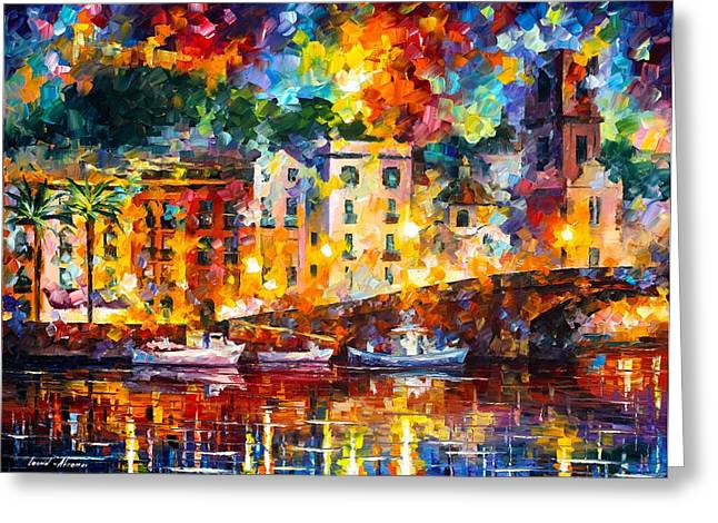 St Tropez Greeting Card by Leonid Afremov