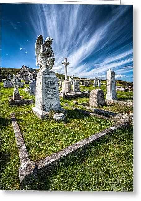 St Tudno Graveyard Greeting Card by Adrian Evans