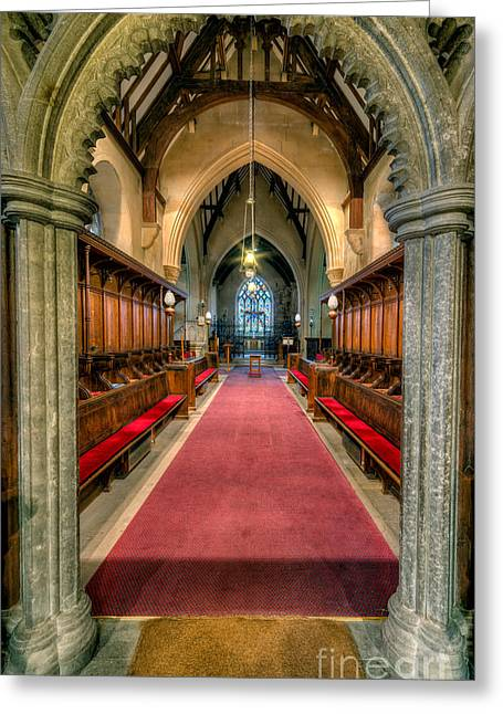 Crucifix Digital Art Greeting Cards - St Twrog Church Greeting Card by Adrian Evans