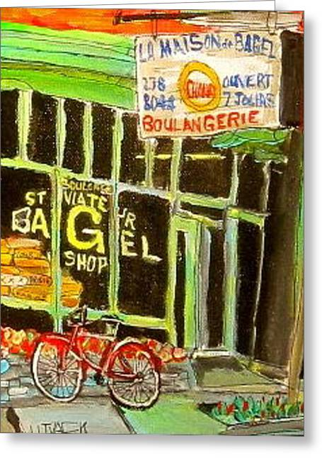 Michael Litvack Greeting Cards - St. Viateur Bagel Shop Greeting Card by Michael Litvack