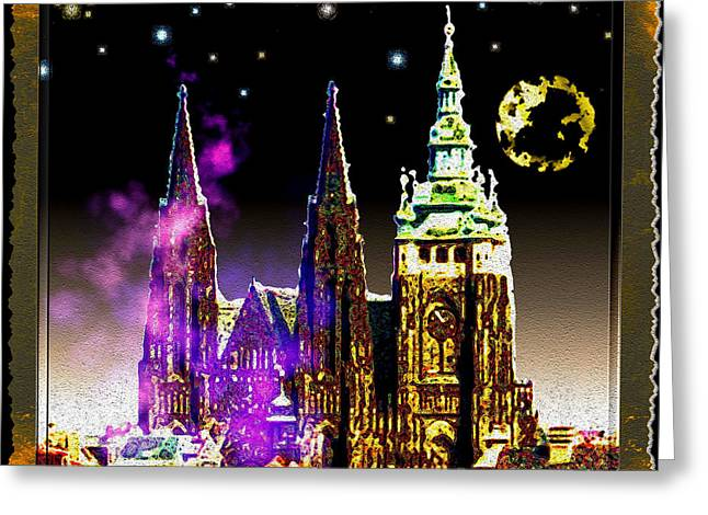 St. Vitus Cathedral Prague Greeting Card by Daniel Janda