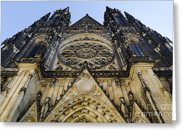 Tower Pyrography Greeting Cards - St Vitus Church in Hradcany Prague Greeting Card by Jelena Jovanovic