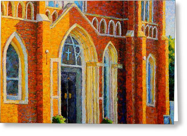 Wahoo Greeting Cards - St Wenceslaus in Evening Light Greeting Card by Jes Ewers