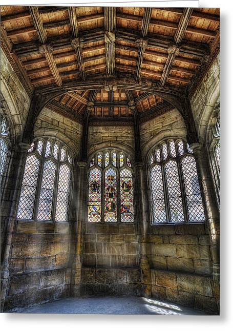 Cathedral Window Greeting Cards - St Winefrides Chapel Greeting Card by Ian Mitchell