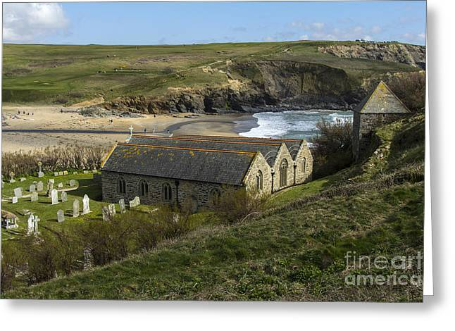 Cornwall Greeting Cards - St Winwaloe Gunwalloe Greeting Card by Brian Roscorla