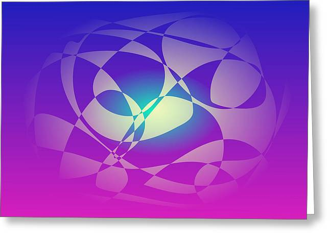 Gradations Digital Art Greeting Cards - Stable Greeting Card by Masaaki Kimura