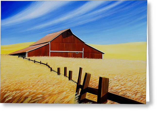 Recently Sold -  - Field. Cloud Greeting Cards - Stable near St. Johns Greeting Card by Leonard Heid