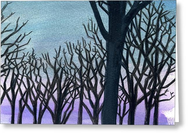 Stable Trees Greeting Card by Rene Capone