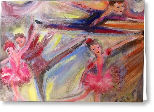 Staccato Greeting Card by Judith Desrosiers