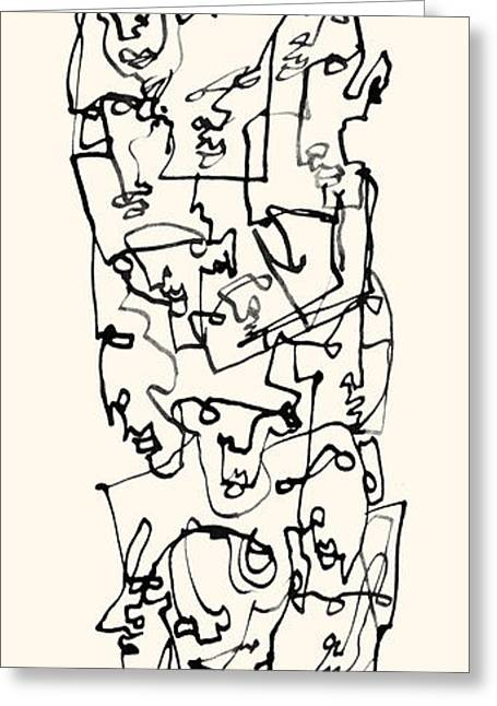 Stack Drawings Greeting Cards - Stack Greeting Card by Arnold Rethy