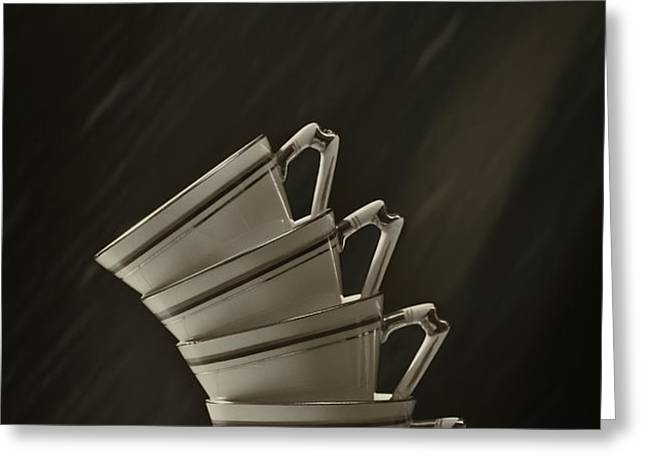 Stack Of Cups Greeting Card by Amanda And Christopher Elwell